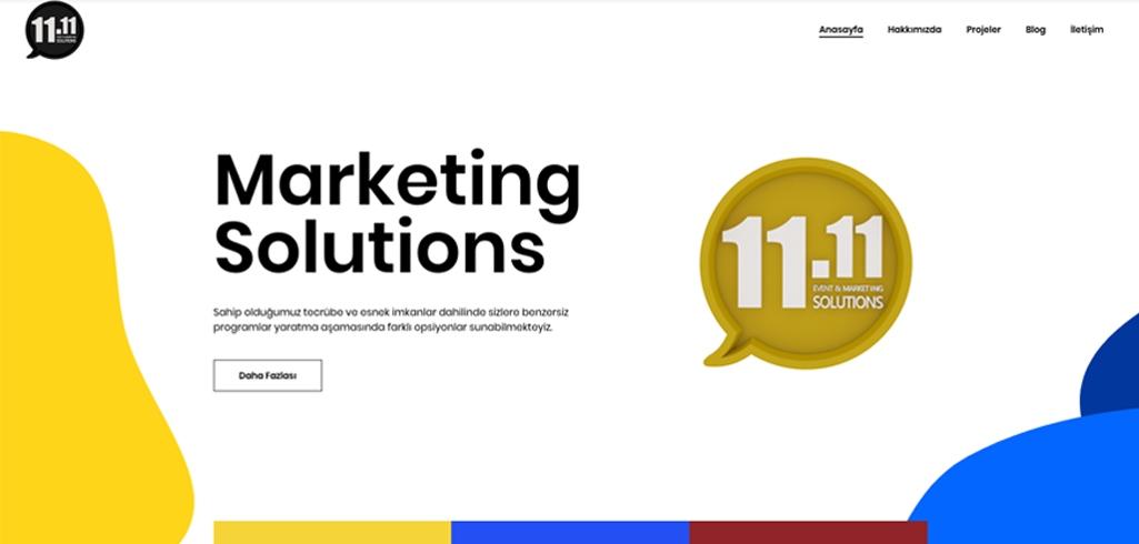 11.11 solutions istanbul web sitesi tasarımı