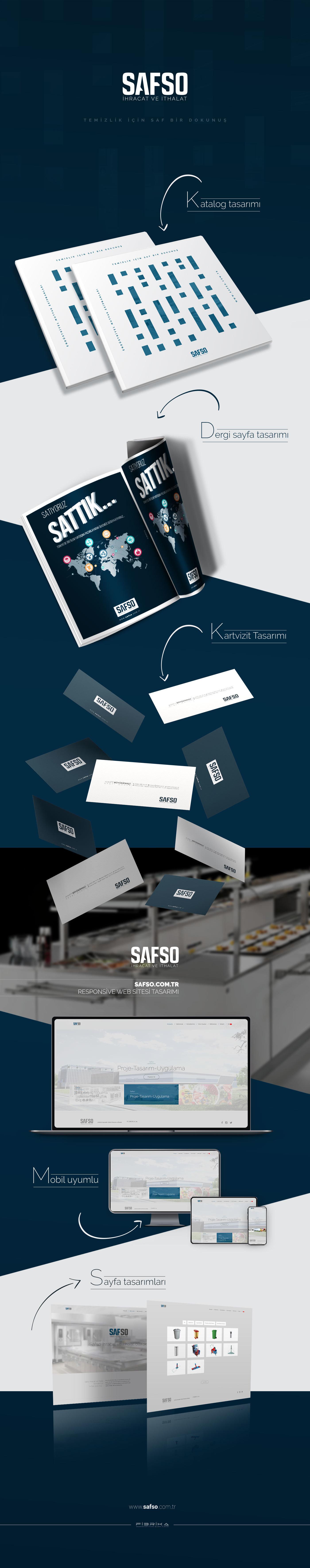 Safso katalog tasarımı, kartvizit tasarımı